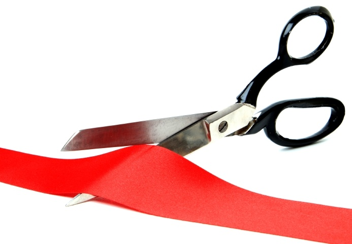 Scissors Cutting Ribbon