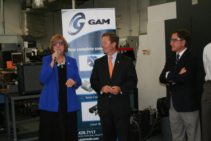 GAM Tour with Mayor and Congressman Dold