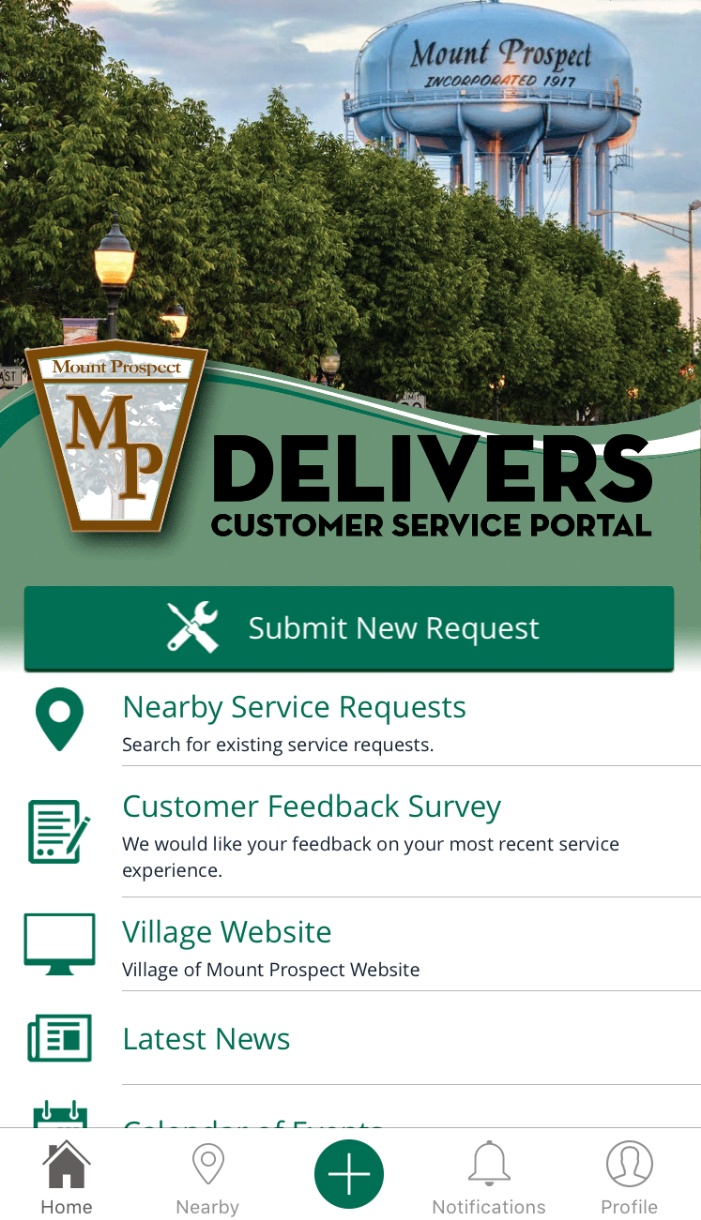 mpdelivers app screen shot