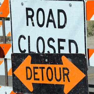 New Traffic Pattern on W. Busse Ave with Pedestrian Detour Begins April 25