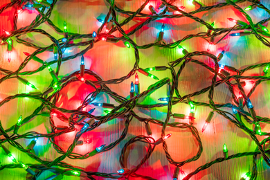 Recycle Holiday String Lights and Extension Cords