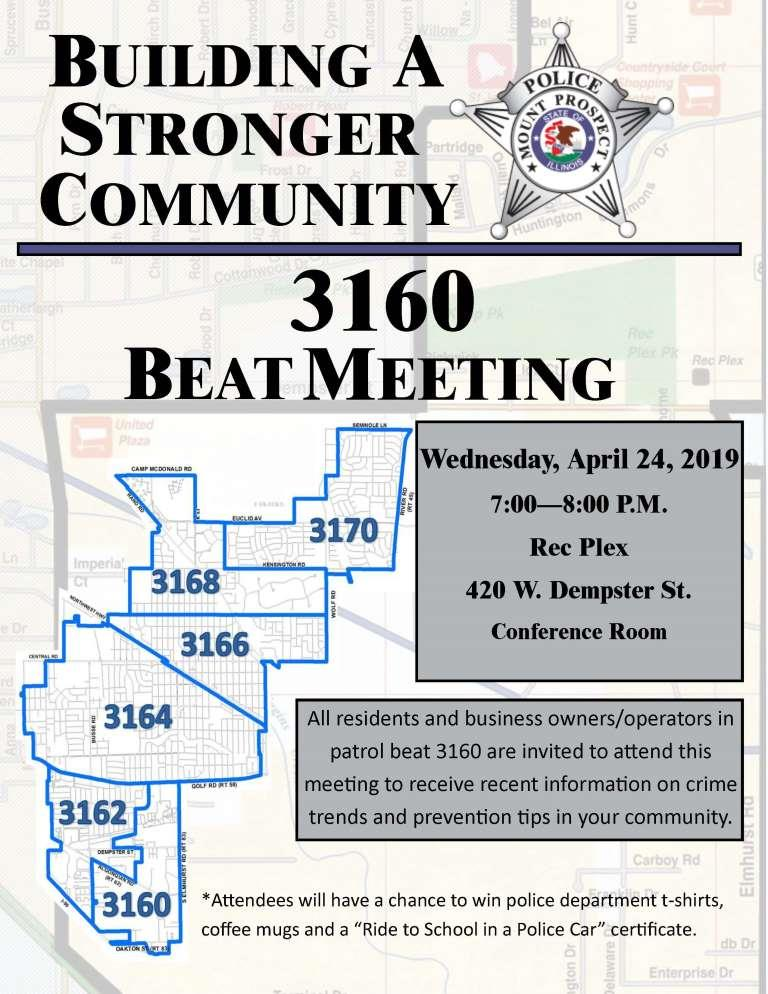 3160 Beat Meeting 3160 Flyer