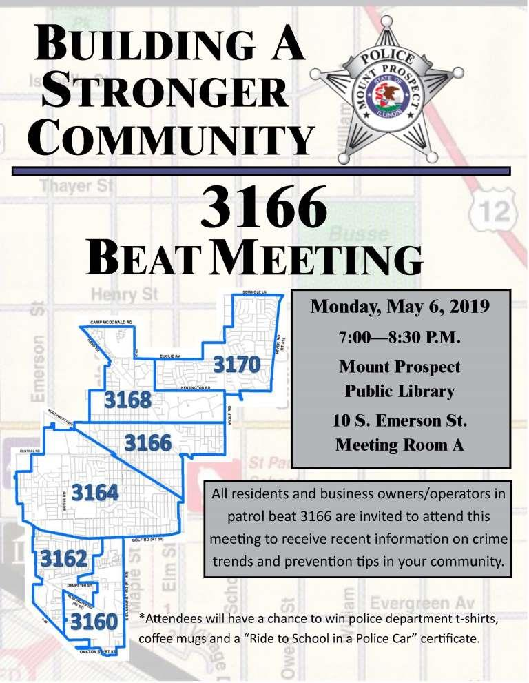3166 Beat Meeting Flyer
