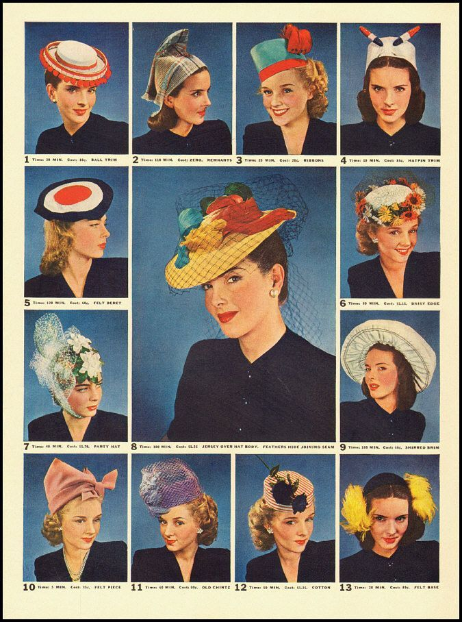 history of ladies hats