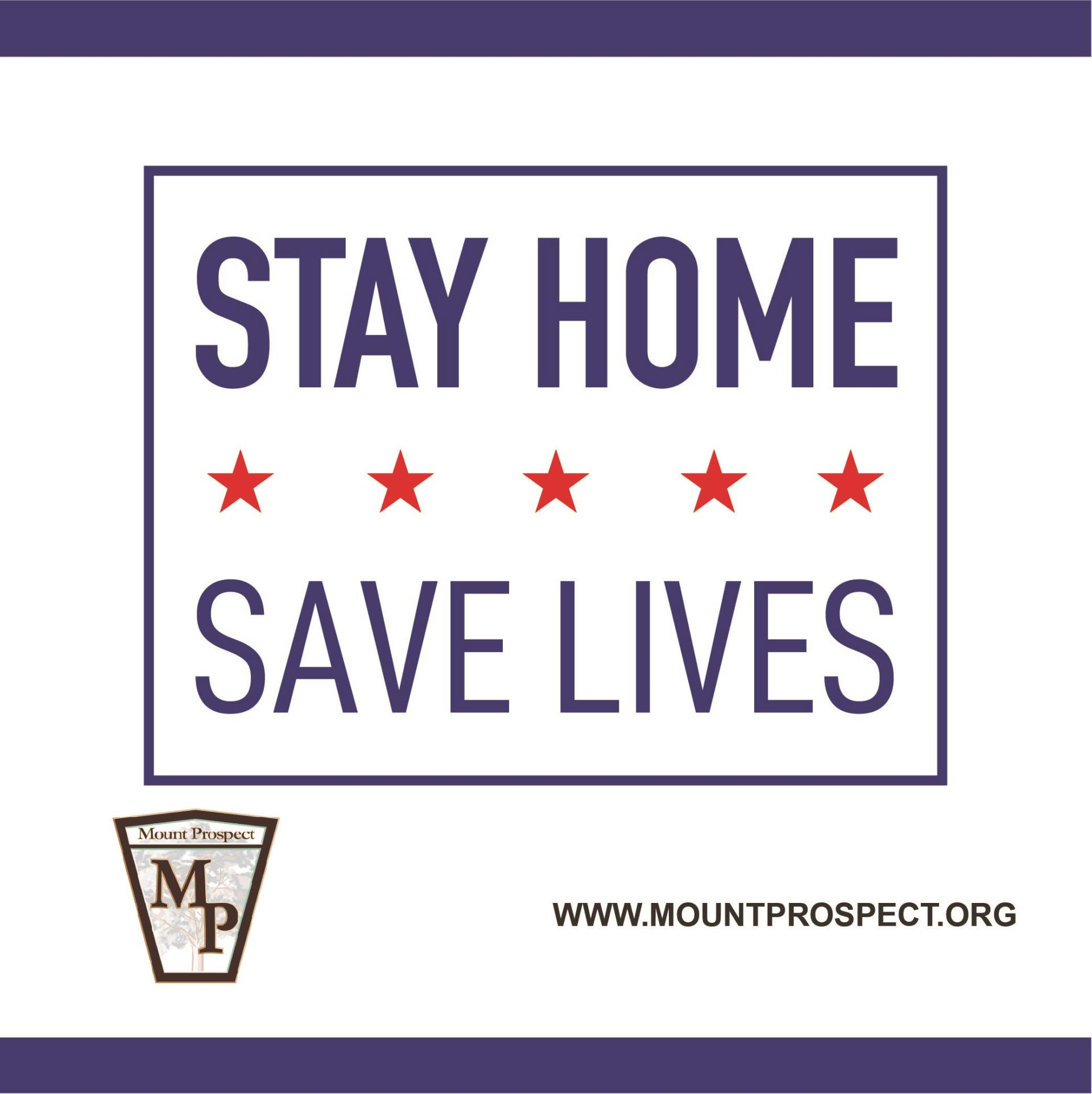 Stay Home Save Lives Logo