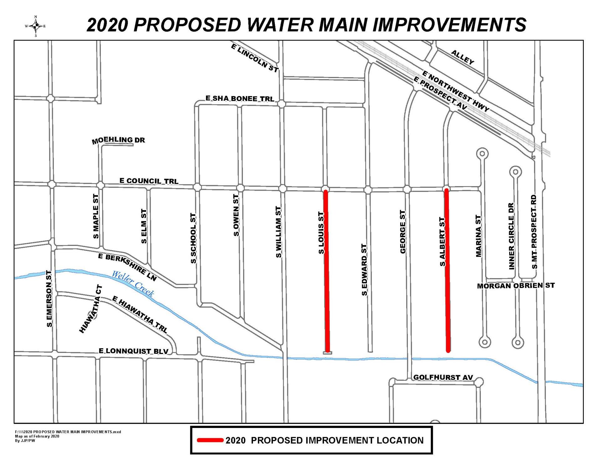 2020 PROPOSED WATER MAIN IMPROVEMENTS
